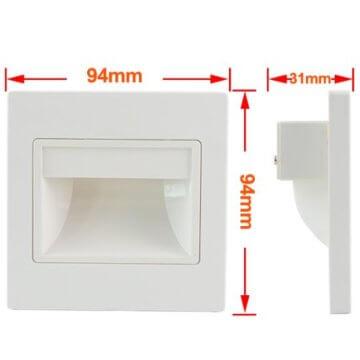 MENGS® 10 Stück 1W COB LED Wand & Treppenbeleuchtung Warmweiß