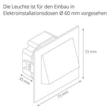 SSC-LUXon LED Treppen-Einbauleuchte NARVA weiß