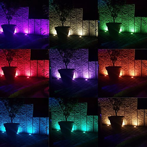 Treppen Bodeneinbaustrahler 10er Set RGB Farbwechsel-LED
